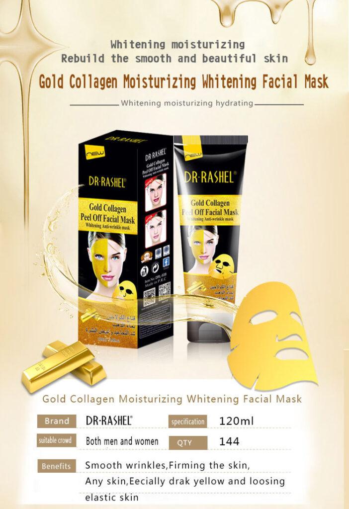 Златна дълбоко почистваща пилинг маска с колаген против..